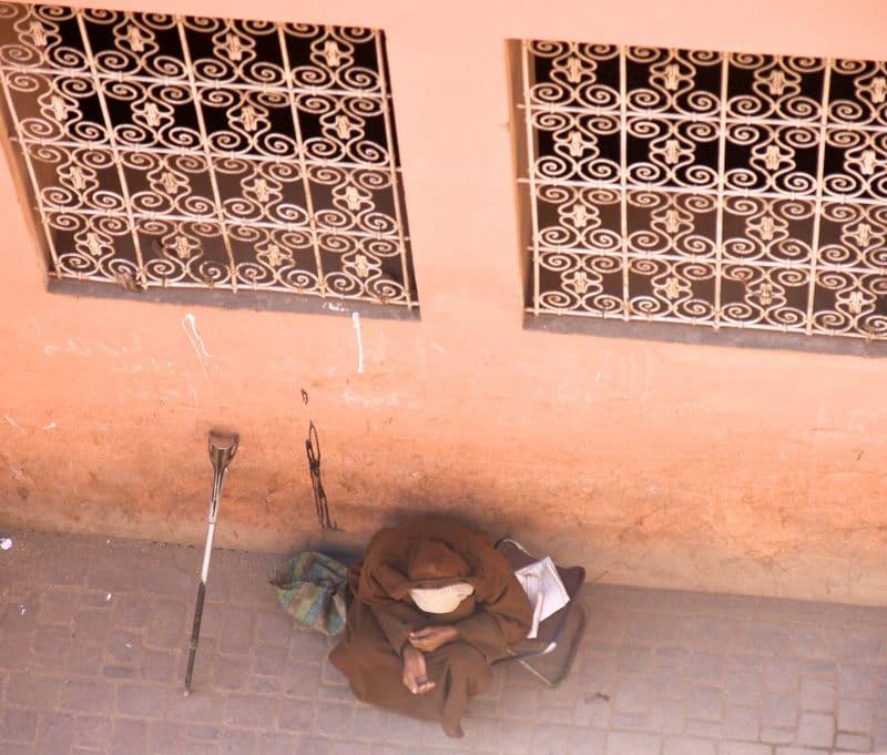 Un jour pour changer la vie d'un SDF à Marrakech