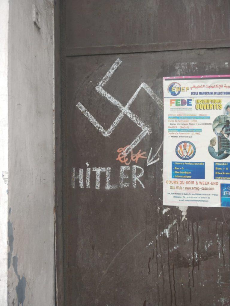 hitler nazi tag morocco casablanca